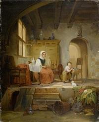 in der küche by abraham van stry the elder