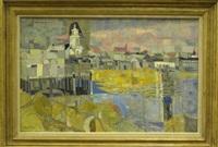 provincetown wharf by lena gurr