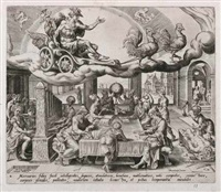 die sieben planeten (set of 7 after maarten van heemskerck) by harmen jansz von müller