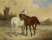 pferdebilder (pair) by joseph simon volmar