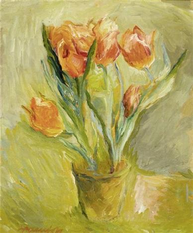 stilleben mit tulpen by alexander leo soldenhoff