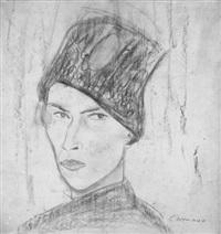 selbstbildnis mit mütze (+ another, similar, verso) by alexander camaro