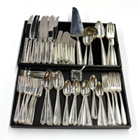 flatware service in the lady hilton pattern (set of 70) by henrik hilborn