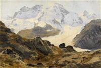 blick auf das breithorn und das klein matterhorn by leonhard steiner