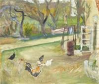 hühner im garten by walter jacob