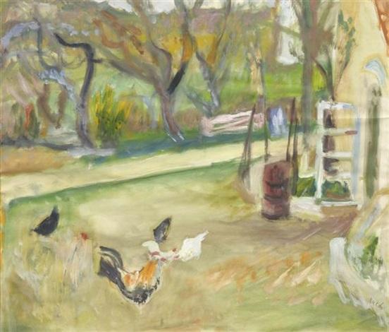 Hühnerhaltung Im Garten hühner im garten by walter jacob on artnet