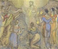 christus mit den klugen und den törichten jungfrauen by franz reinhardt