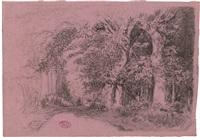 Körbe an einem Hafenkai, im Hintergrund..., 1893