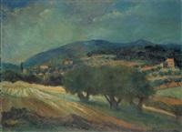 landschaft in der provence by erich klossowski