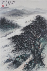 landscape by li xiongcai