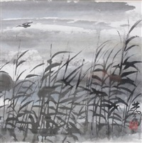 landscape by lin fengmian
