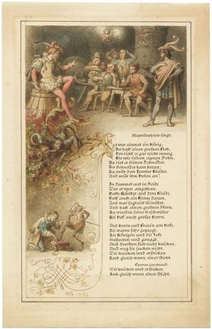 Mephistos Flohlied Illustration Zu Dem Gedicht Es War