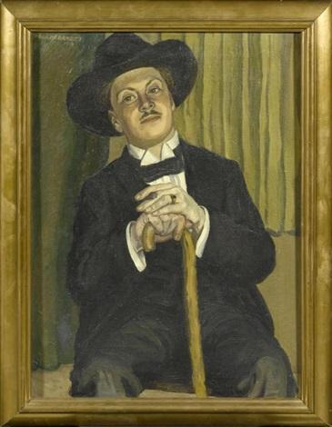herrenportrait by fritz hildebrandt