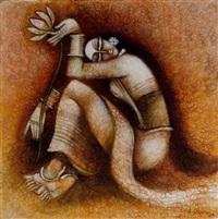 frau mit blume by susmita acharya
