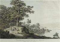 vue prise aux environs du lac de bienne by johann ludwig aberli
