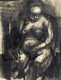 sitzender akt by edmondo dobrzanski