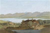 château de vésenay aux environs de genéve (pries de gex) by johann heinrich bleuler the elder