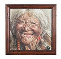 扎西德勒系列ⅰ瓷板 (a tashi delek plaque) by dai kuiyang