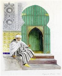oriental at the house entrance by raymond mason