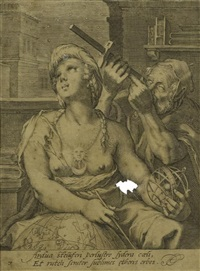 die sieben freien künste (portfolio of 7) (after hendrick goltzius) by cornelis jacobsz drebbel