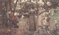 the summer garden by john lochhead