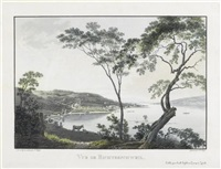 vue de richterschweil (from les lacs de la suisse, after j. j. wetzel) by franz hegi