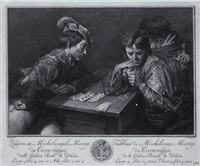 die drei kartenspieler by pieter tanje