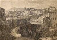 rovine cagionate in tivoli il di 16. novemre. 1826. dall'escrescenza dell'aniene by johann christian reinhart
