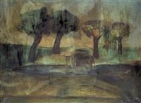 landschaft mit kühen by alexander camaro