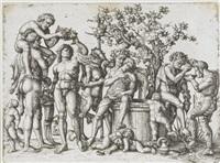 das bacchanal (after mantegna) by daniel hopfer