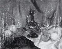 stilleben mit äpfeln by wilhelm ludwig lehmann