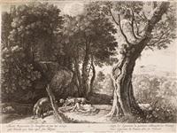 die geschichte des adonis (5 works) by herman van swanevelt