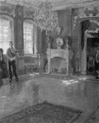 interieur im dresdener schloß by ferdinand dorsch