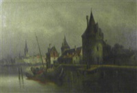 niederländische hafenstadt by van hoom