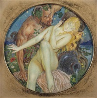 a faun and a nymph by george owen wynne apperley