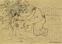 minotauro ed una fanciulla by scipione (gino bonichi)