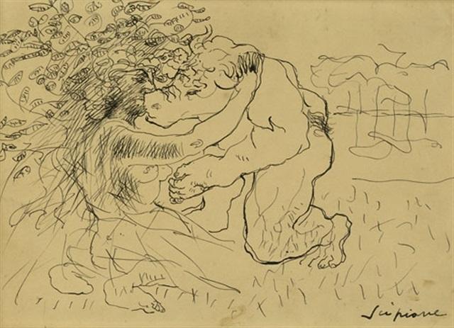 minotauro ed una fanciulla by scipione gino bonichi