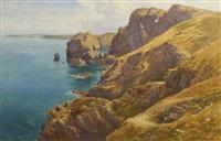 the cliffs near mullion, cornwall by cyril ward