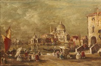 a venetian harbor scene by e. zeno