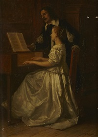 the piano lesson by benjamin eugène fichel