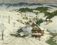 winter im riesengebirge (pelzer) by richard albitz