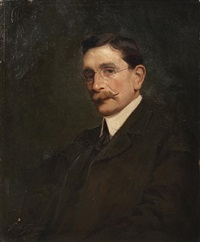 a portrait of a gentleman by arthur spooner