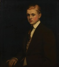 a portrait of a gentleman (eugene saber?) by maxmilian aurel reinitz rasko