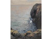 ocean cliff by franz arthur bischoff