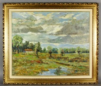 landscape with house by robert f. vacik