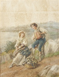 a picnic by the lake by pietro gabrini