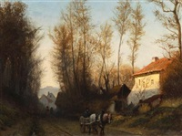 a road near waterloo by adolf alexander dillens