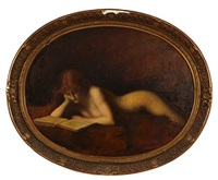la liseuse (after jean jacques henner) by philippe alfieri