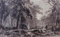 an aboriginal camp by james waltham curtis