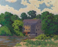 grist mill on spoon river by hedley waycott